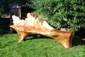 oak leaf bench